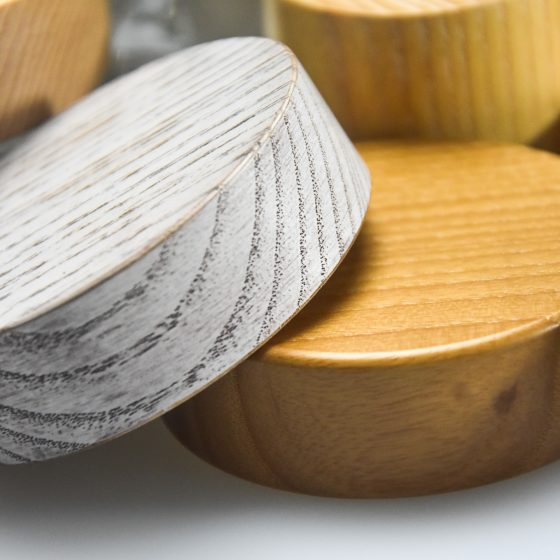 exclusive wooden lids and caps