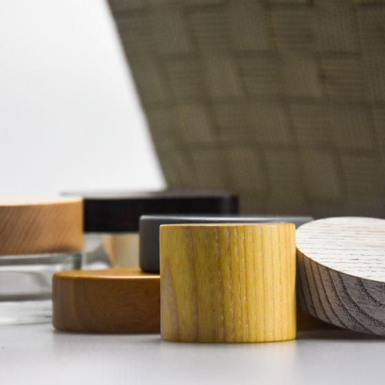 luxury wood lids and caps
